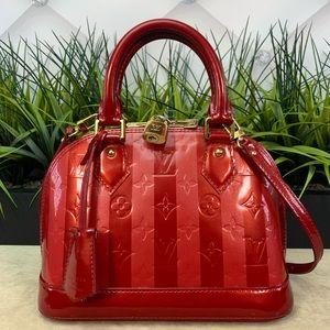 Authentic Louis Vuitton Rayures Stripped Alma bb
